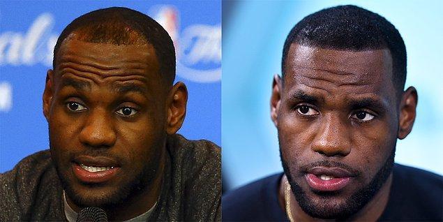6. NBA'in yıldız basketbolcusu Lebron James, saç problemine ufak bir dokunuşla çözüm bulmuş.