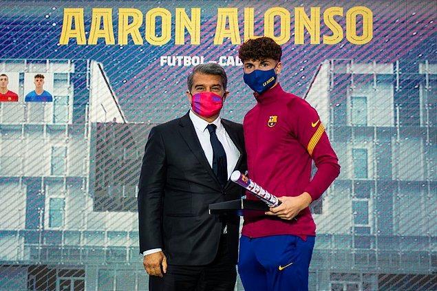 6. En iyilere ev sahipliği yapmış La Masia'nın yetiştirdiği file bekçisi Aáron Alonso.