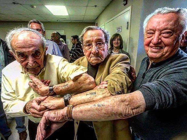 5. Milyonlarca insanın işkence edilerek öldürüldüğü Auschwitz'ten aynı gün kurtulan ve yıllar sonra tekrar bir araya gelen 3 Yahudi: