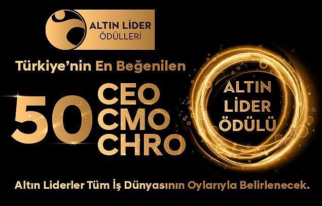 """Global Marketing Summit 2021'in ardından, Türkiye'nin """"En Beğenilen 50 CEO'su"""" ve Türkiye'nin """"En Beğenilen 50 CMO""""sunun seçileceği 2021 Altın Lider Ödülleri de sahiplerini bulacak."""