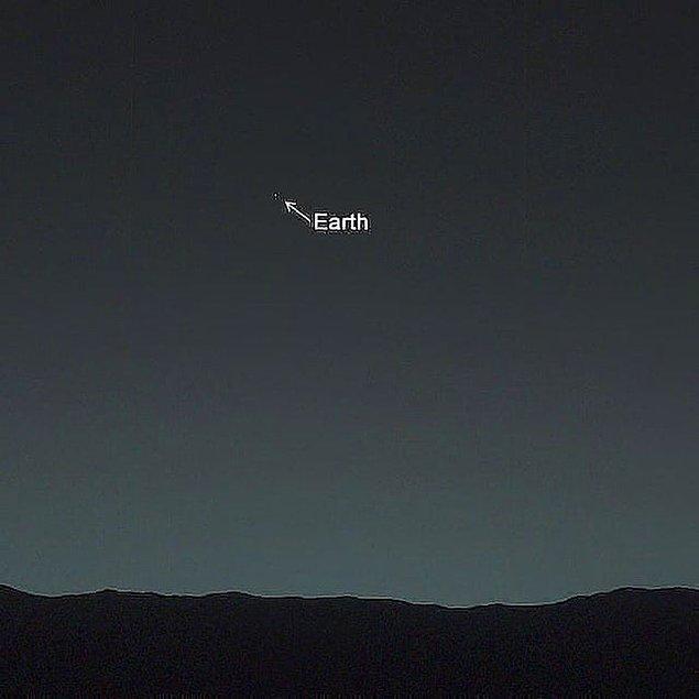 9. Mars yüzeyinden Dünya'nın görünümü: