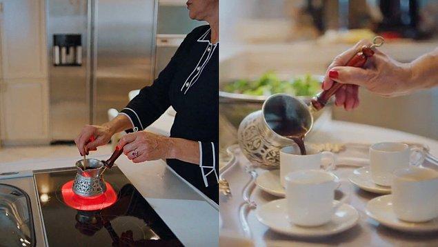 9. Feride Hanım'ın özenle yaptığı kahve sahnesini hatırlarsınız.