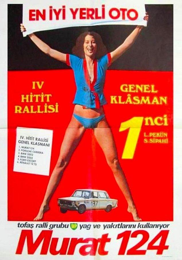 8. Milli otomobilimiz Murat'ın reklam afişi, 1975.