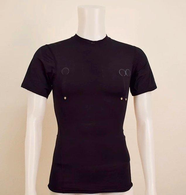 13. Kalp atış hızını ölçen tişört