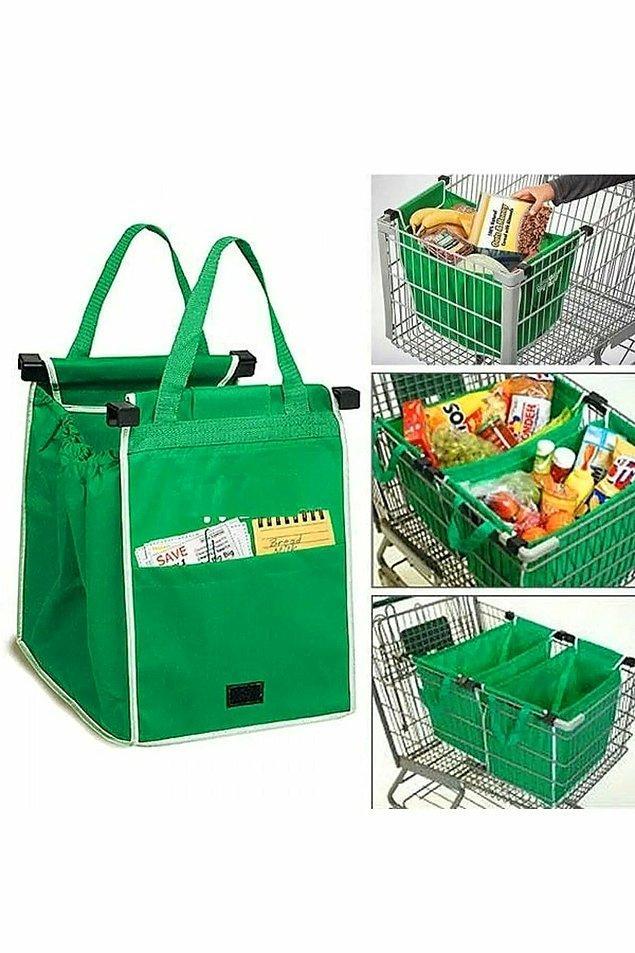 15. Market alışverişlerinizi daha organize bir şekilde yapmak için özel organizerlar alışveriş deneyiminizi üst düzeye çıkaracak.