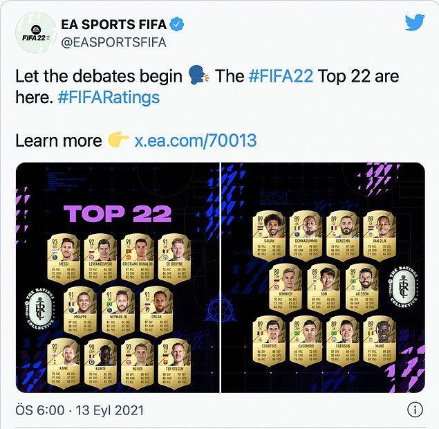 İşte karşınızda en iyi 22 oyuncu.