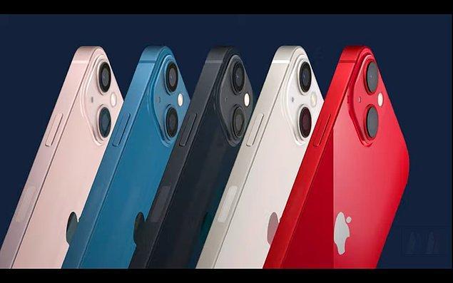 iPhone 13, 5 farklı renkte geliyor.