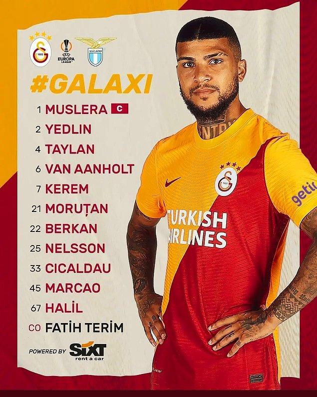 Galatasaray-Lazio maçının 11'leri bu şekildeydi. 👇
