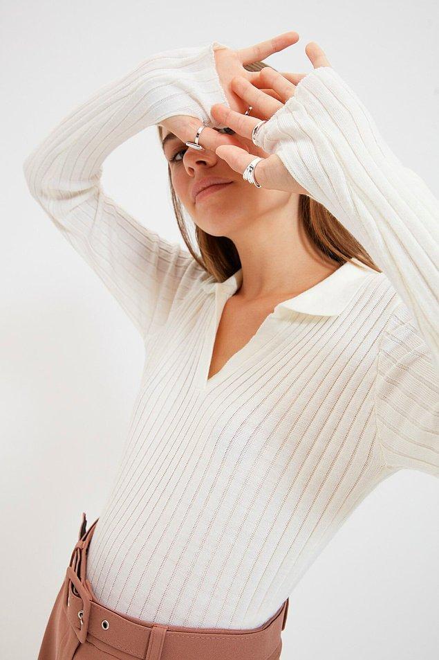 6. İnce triko bir kazak da soğuk bahar günleri için kurtarıcı olacaktır.