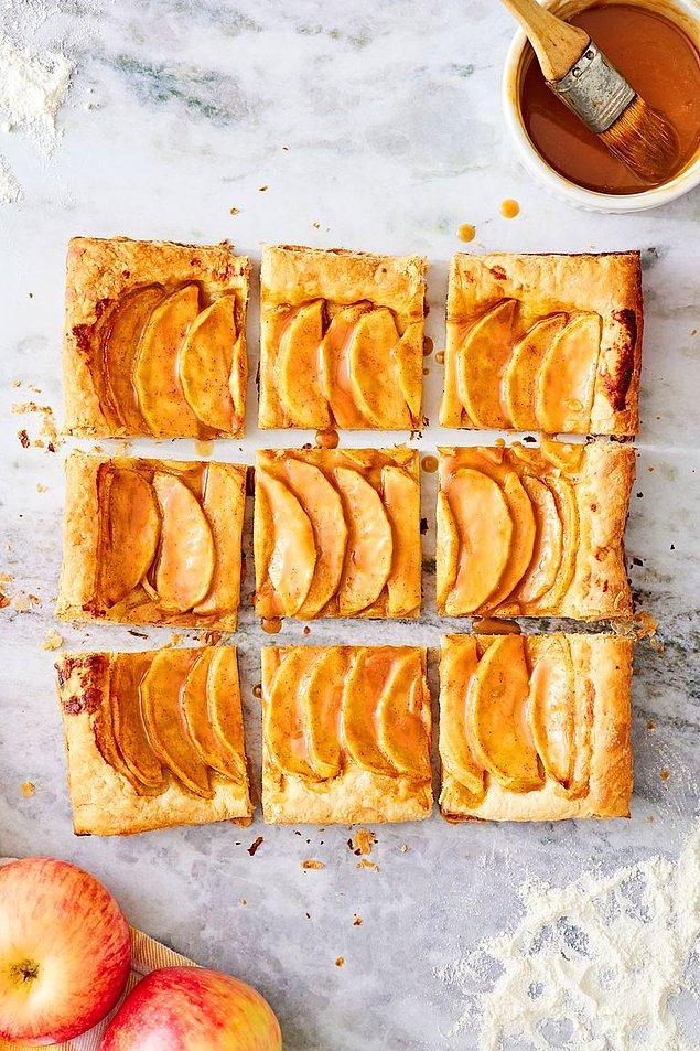 Butik pastanelerin tarifi: Karamelli elmalı tart!