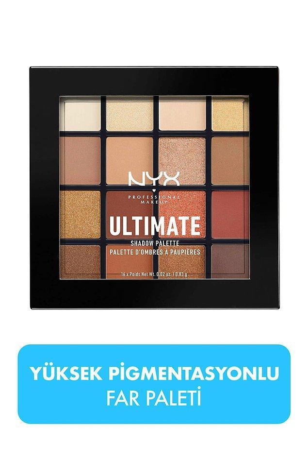 4. NYX göz farı paleti içinde çok doğal renkler var!