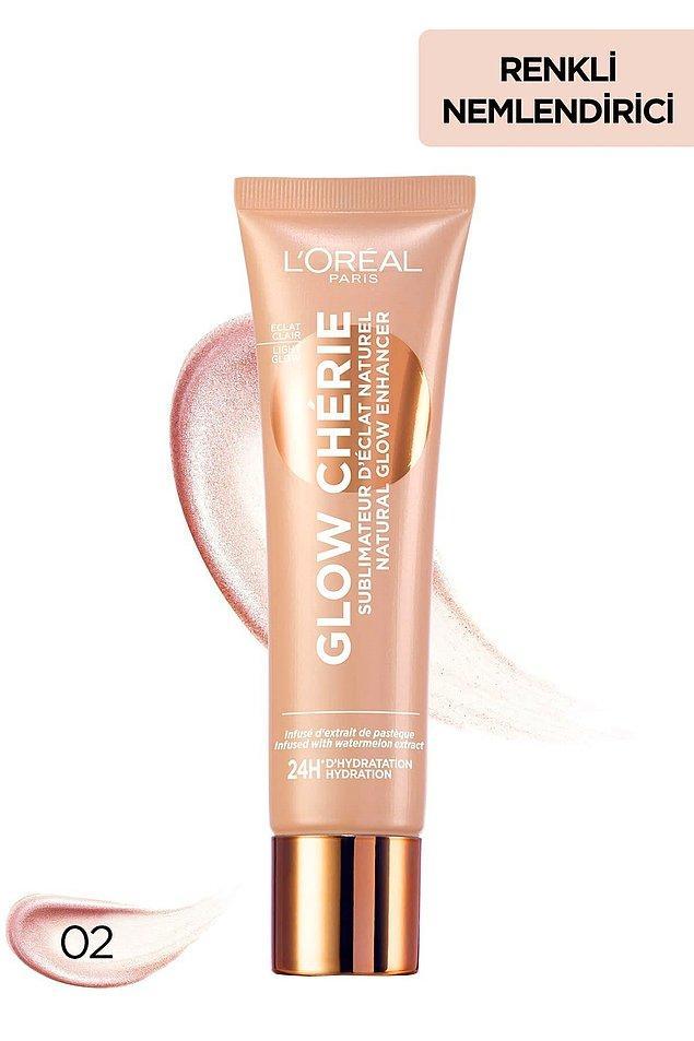 10. L'Oreal Paris glow cherie aydınlık veren renkli nemlendirici ile tüm gün cildiniz ışıldasın!