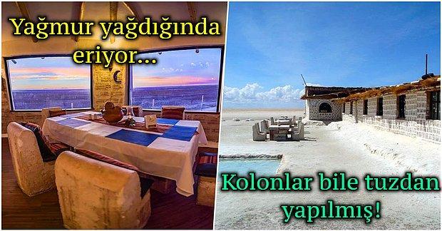 Bu Otelde Duvarları Yalamak Yasak! Yatağından Masasına Kadar Tamamen Tuzdan Yapılmış Bolivya Oteli
