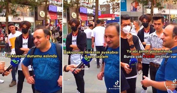 Türkiye'nin Durumu Çok Güzel Deyip Erdoğan Öven Gurbetçi Cüzdanını Çıkarmadı: 'Burada Çok Fakir İnsanlar Var'