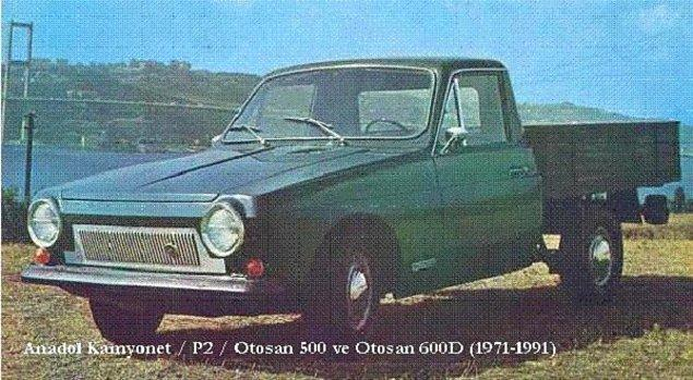 1971'de tamamen tesadüfi bir şekilde Anadol'un pick-up modeli ortaya çıktı.
