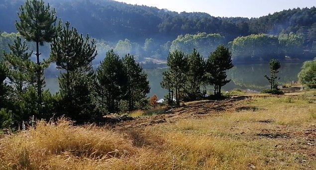 2. Yeşilin her tonuna şahit olacağınız Baraklı Göleti kamp alanı...