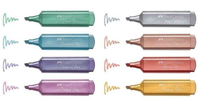 21. Bu fosforlu kalemler de ders çalışırken çok işe yarıyor.