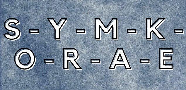 4. Peki isminin 1. harfi bu harflerden biri mi?