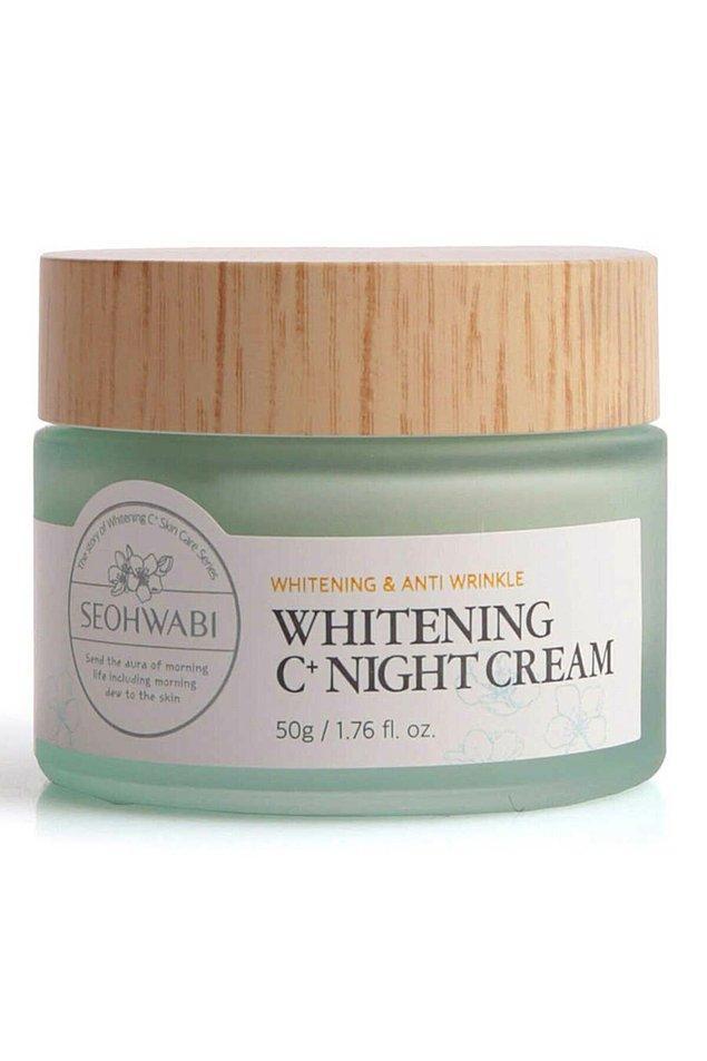 15. Seohwabi Whitening C+ Night Cream - Aydınlatıcı Gece Kremi