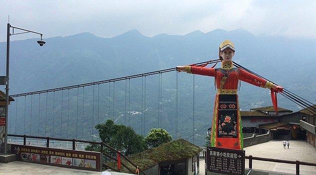 7. Jiuhuangshan Cam Köprüsü -  Mianyang / Sichuan