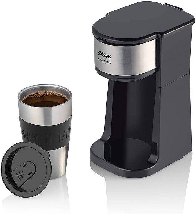 14. Arzum Brew'N Take kişisel filtre kahve makinesi ile dışarda kahveye para harcamayın...