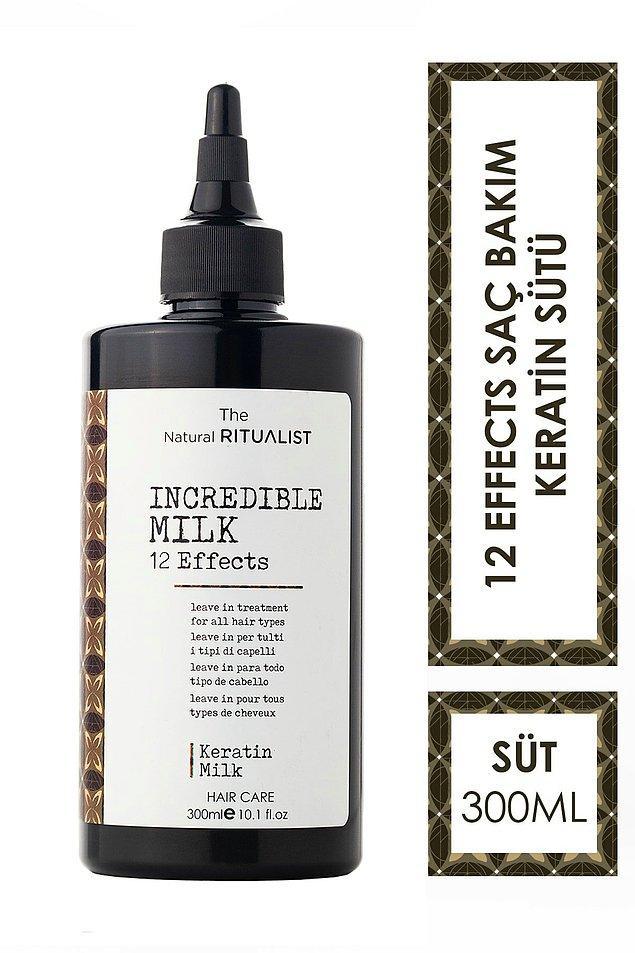 5. The Natural Ritualist Incredible Milk durulanmayan keratinli saç bakım sütü 12 etkiyi tek bir üründe buluşturuyor.