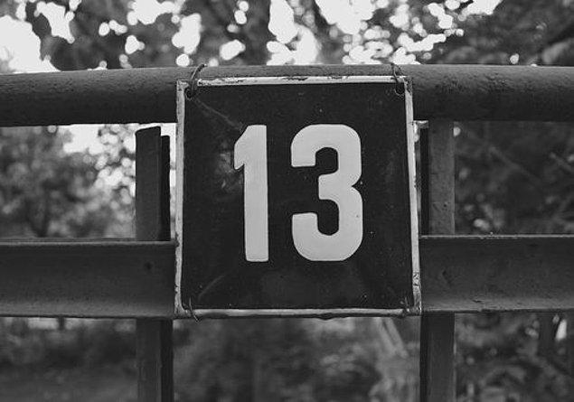 11. 13 sayısı fobisi (Triskaidekafobi)