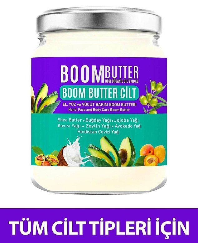 1. Havalar soğuyunca kuruyan çatlayan cildimize iyi gelecek Boom Butter'ın çok satanlar arasında olmasına şaşırmamak gerek.