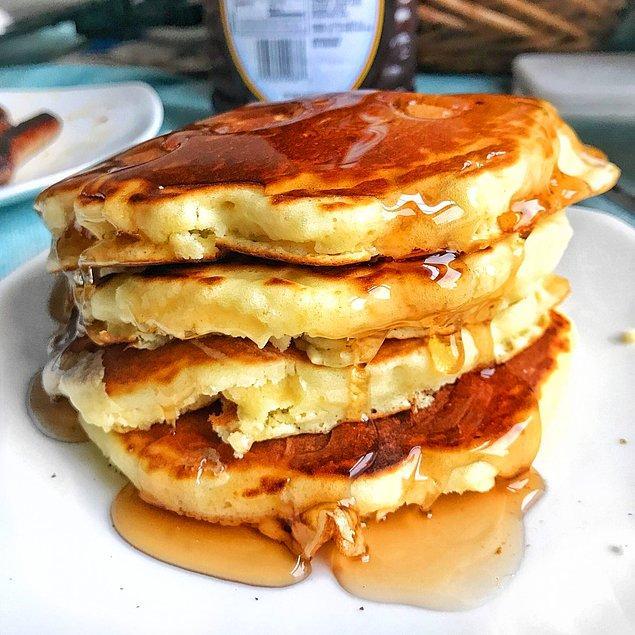 11. Tarhanasız kahvaltı olmazdı. Biz de kahvaltı sofralarına yakışacak bir pancake yaptık!
