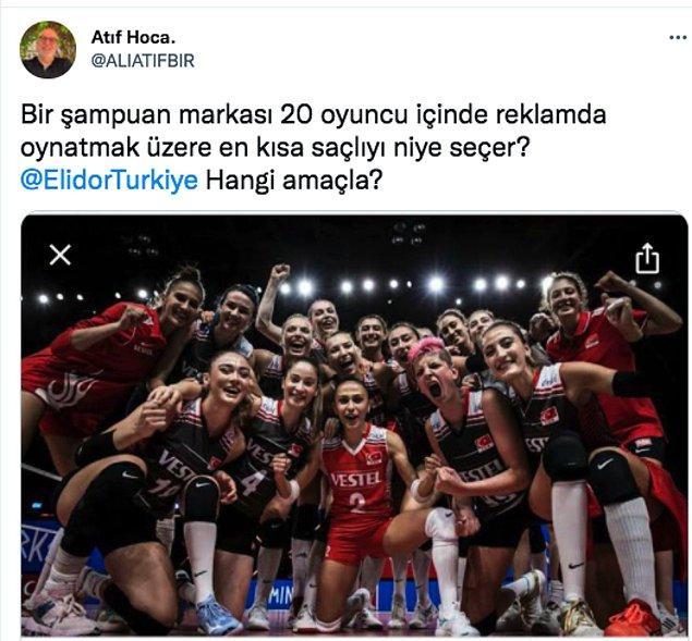 Eski bir rektör, bir akademisyen olan Ali Atıf Hoca nedense A Milli Voleybol Takımının gururu Ebrar Karakurt'a ve onunla reklam anlaşması yapan firmaya takmış durumda.