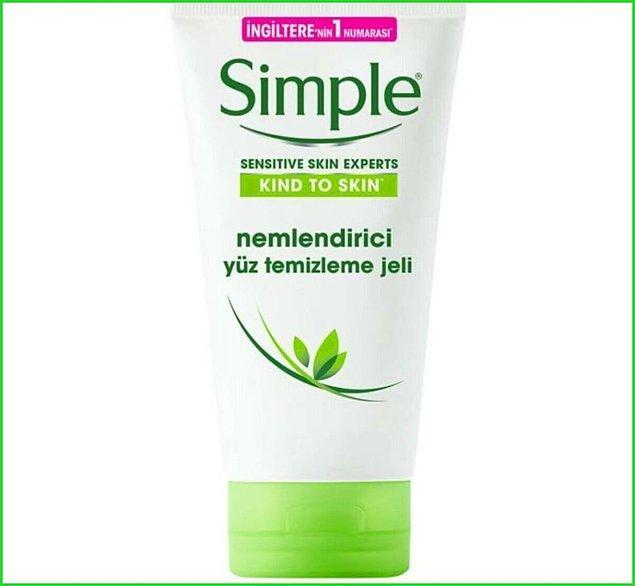 1. Kuru cildi olanların da rahatlıkla kullandığı bir marka Simple.