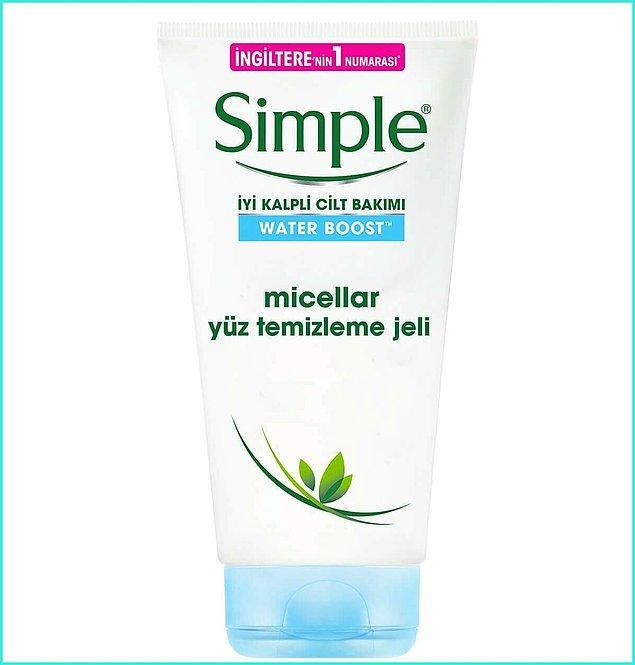 11. Yüzünüzü kurutmayacak bir yıkama jeli için Simple'i deneyin.
