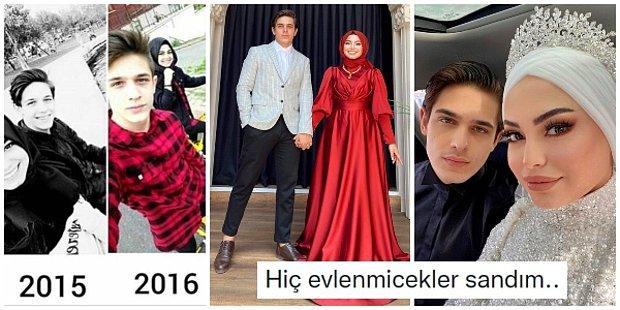 Sonunda Muratlarına Erdiler: Nişan Çift Olarak Tanınan Instagram Fenomenleri Kübra ve Batuhan Dünyaevine Girdi