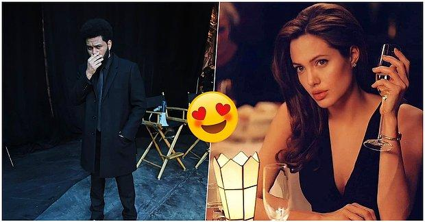 Dünyaca Ünlü İsimler Angelina Jolie ve The Weeknd'in Çıktıkları Randevudan Yeni Görüntüleri Geldi!