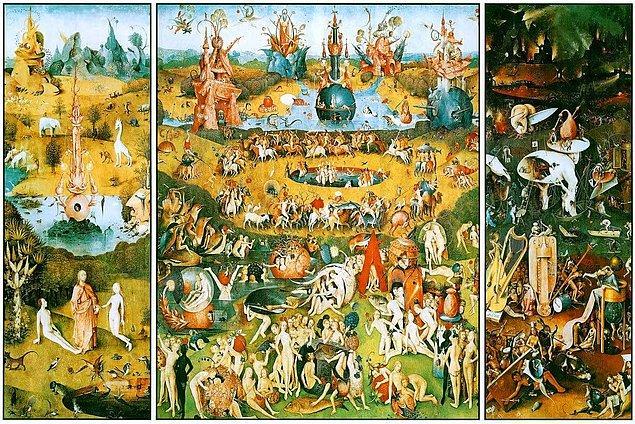 Hollandalı ressam Hieronymus Bosch'un bu ünlü tablosunun ismi nedir?
