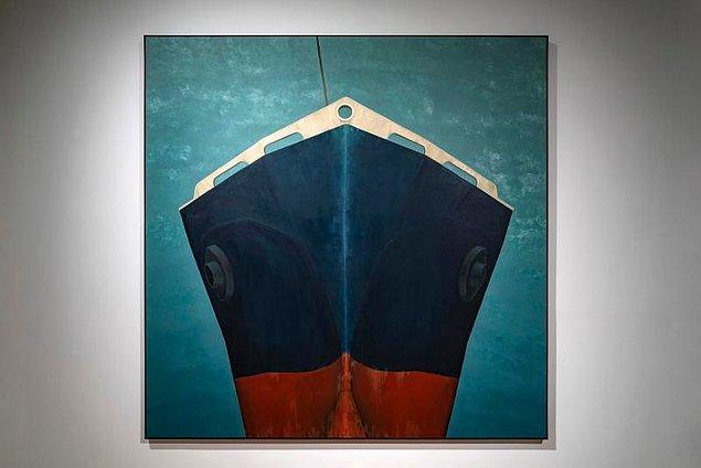 """9. Ahu Akgün, """"Vitaspirit"""" eserinde İstanbul Boğazı'nda gerçekleşen bir gemi kazasını konu alıyor."""