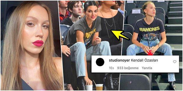 Kendall Jenner'ı mı Taklit Ediyor? Duygu Özaslan'ın Yaptığı 'Sevgilimin Maçı Var' Kombini Olay Oldu