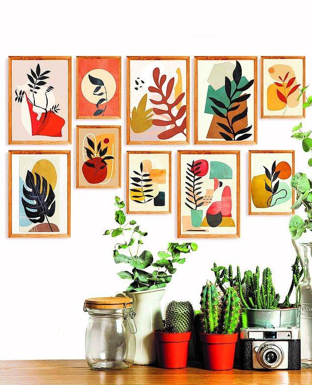 Bu tablolarla evinize renk katın