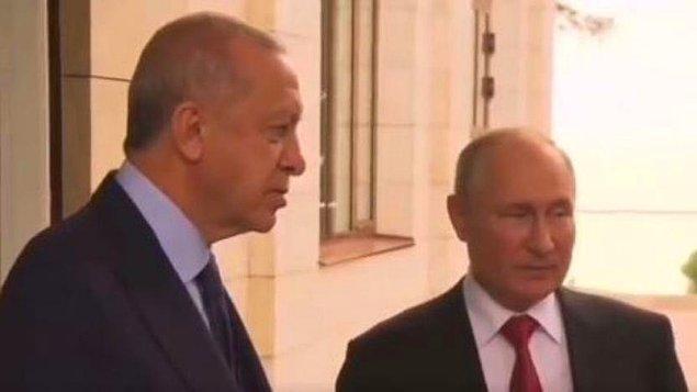 """Putin, """"Benim antikorum yüksek. Virüs kapan kişi ile gün boyu beraber olmamıza rağmen hasta olmadım."""" ifadelerini kullandı."""