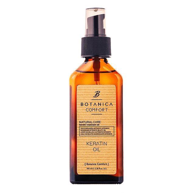 2. BOTANICA COMFORT Aşırı Yıpranmış Saçlar için Keratin Bakım Yağı
