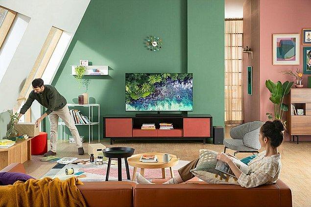 7. Ses, görüntü ve ışık kalitesiyle ultra HD bir televizyonla tüm isteklerinizi karşılayabilirsiniz.