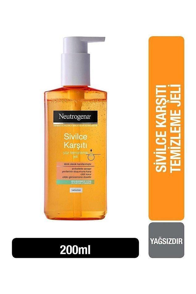 8. Neutrogena Visibly Clear Sivilce Karşıtı Yüz Temizleme Jeli