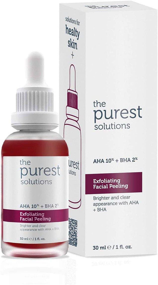 3. The Purest Solutions canlandırıcı ve cilt tonu eşitleyici peeling serumu da en beğenilen ve en çok satılan cilt bakım ürünlerinden biri olmuş.