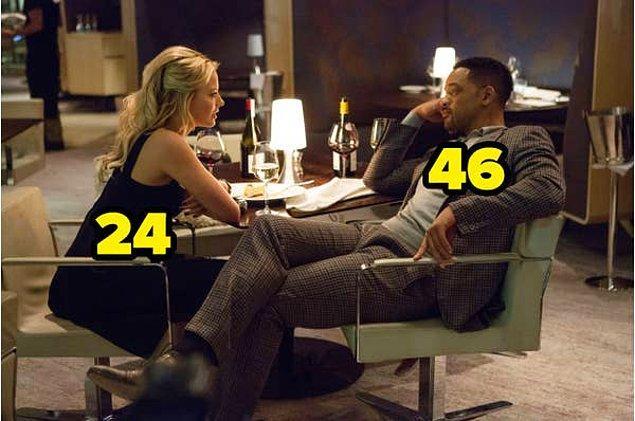 11. Johansson gibi Robbie de kendinden yaşça büyük kişilerle partner olmuş hep. Fokus'ta Will Smith, öyle göstermese de, 46 yaşında. Margot Robbie ise o sıralar 24 yaşındaydı.