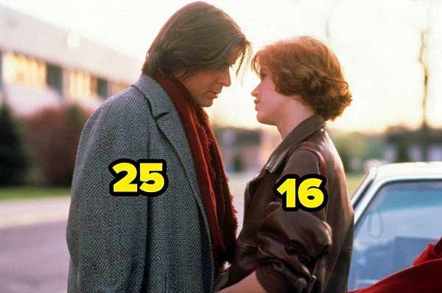 27. The Breakfast Club filminde, Judd Nelson gerçek hayatta 25 yaşında olmasına rağmen bir lise öğrencisini canlandırdı.