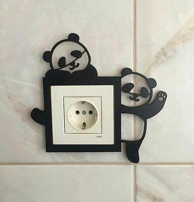 9. Prizlerinizi ponçik pandalarla süsleyerek de evinizin havasını değiştirebilirsiniz.