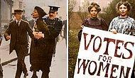 Фотографии женщин, боровшихся за права голоса 100 лет назад, стали еще более интересны в цвете