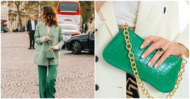 Son yılların sevilen trendi: yeşil kombinler 💚