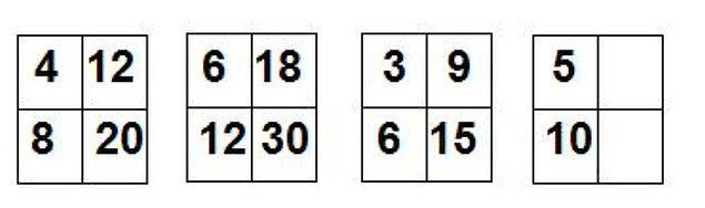 9. Aşağıdaki şekildeki sayılar bir kurala göre yerleştirilmiştir , bu kurala göre son iki kare içerisine yerleştirilmesi gereken sayılar hangileridir ?