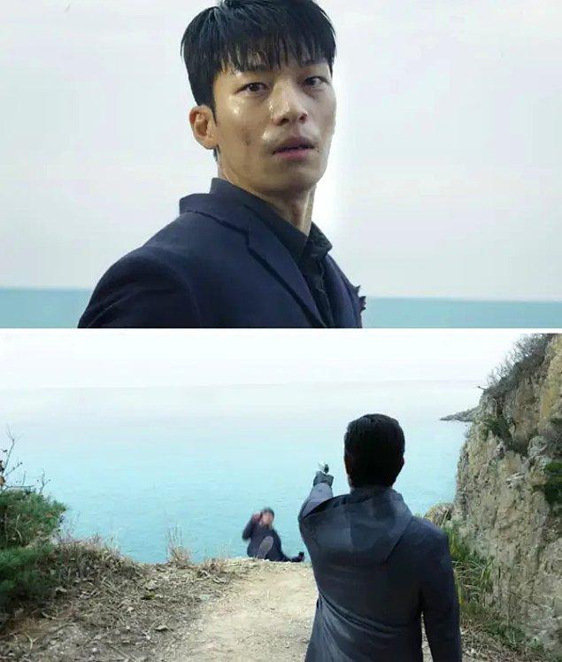 10. Jun-ho'nun 8. bölümde vurulup okyanusa düşeceğinin sinyalleri oyuna girmeye çalıştığı zamanlarda veriliyor.